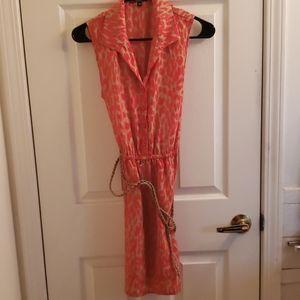 BeBop Dress Beige Pink Size Medium